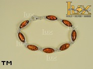 Jewellery SILVER sterling bracelet.  Stone: amber. TAG: ; name: B-204; weight: 9.8g.