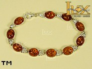Jewellery SILVER sterling bracelet.  Stone: amber. TAG: ; name: B-603; weight: 11.6g.