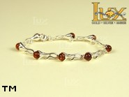 Jewellery SILVER sterling bracelet.  Stone: amber. TAG: nature; name: B-631; weight: 10.4g.