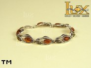 Jewellery SILVER sterling bracelet.  Stone: amber. TAG: nature; name: B-648; weight: 14g.