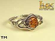 Jewellery SILVER sterling bracelet.  Stone: amber. TAG: ; name: B-661; weight: 26.8g.