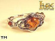 Jewellery SILVER sterling bracelet.  Stone: amber. TAG: ; name: B-662; weight: 31g.