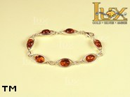 Jewellery SILVER sterling bracelet.  Stone: amber. TAG: ; name: B-668; weight: 9.2g.