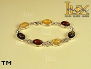 Jewellery SILVER sterling bracelet.  Stone: amber. TAG: ; name: B-677; weight: 10.6g.