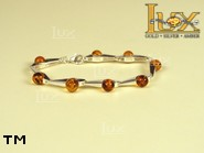 Jewellery SILVER sterling bracelet.  Stone: amber. TAG: ; name: B-680; weight: 11.5g.