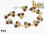 Jewellery SILVER sterling bracelet.  Stone: amber. TAG: nature; name: B-690; weight: 14.3g.