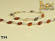 Jewellery SILVER sterling bracelet.  Stone: amber. TAG: ; name: B-716; weight: 9.4g.