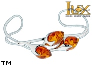 Jewellery SILVER sterling bracelet.  Stone: amber. TAG: ; name: B-720-2; weight: 11.8g.