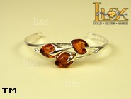 Jewellery SILVER sterling bracelet.  Stone: amber. TAG: ; name: B-720; weight: 11g.