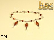 Jewellery SILVER sterling bracelet.  Stone: amber. TAG: ; name: B-722; weight: 9.3g.