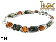 Jewellery SILVER sterling bracelet.  Stone: amber. TAG: ; name: B-747; weight: 16.2g.