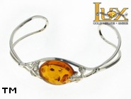 Jewellery SILVER sterling bracelet.  Stone: amber. TAG: nature; name: B-760; weight: 11.2g.