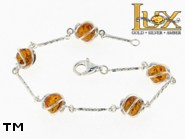Jewellery SILVER sterling bracelet.  Stone: amber. TAG: ; name: B-763; weight: 5g.