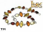 Jewellery SILVER sterling bracelet.  Stone: amber. TAG: modern; name: B-771; weight: 13.5g.