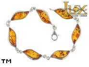 Jewellery SILVER sterling bracelet.  Stone: amber. TAG: ; name: B-777; weight: 10.9g.
