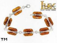 Jewellery SILVER sterling bracelet.  Stone: amber. TAG: ; name: B-780; weight: 21.8g.