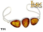 Jewellery SILVER sterling bracelet.  Stone: amber. TAG: ; name: B-783-1; weight: 14g.