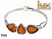 Jewellery SILVER sterling bracelet.  Stone: amber. TAG: ; name: B-783-2; weight: 15.3g.