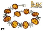 Jewellery SILVER sterling bracelet.  Stone: amber. TAG: ; name: B-787; weight: 17g.