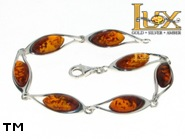 Jewellery SILVER sterling bracelet.  Stone: amber. TAG: ; name: B-815-2; weight: 9.4g.