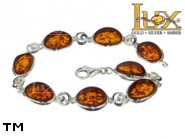 Jewellery SILVER sterling bracelet.  Stone: amber. TAG: ; name: B-827-1; weight: 12.3g.