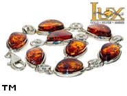 Jewellery SILVER sterling bracelet.  Stone: amber. TAG: ; name: B-827-2; weight: 10g.