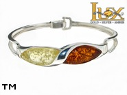 Jewellery SILVER sterling bracelet.  Stone: amber. TAG: ; name: B-840; weight: 16.4g.