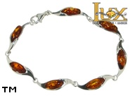Jewellery SILVER sterling bracelet.  Stone: amber. TAG: ; name: B-882; weight: 7.5g.