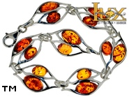 Jewellery SILVER sterling bracelet.  Stone: amber. TAG: ; name: B-A16-1; weight: 9.9g.