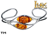 Jewellery SILVER sterling bracelet.  Stone: amber. TAG: ; name: B-A16-2; weight: 9.4g.