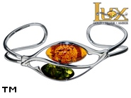 Jewellery SILVER sterling bracelet.  Stone: amber. TAG: ; name: B-A16-2mix; weight: 9.4g.