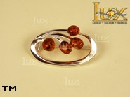 Jewellery SILVER sterling brooche.  Stone: amber. TAG: ; name: BR-028; weight: 4.5g.