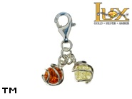 Jewellery SILVER sterling charm.  Stone: amber. TAG: ; name: CH-763; weight: 1.7g.