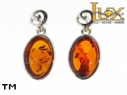 Jewellery SILVER sterling earrings.  Stone: amber. TAG: ; name: E-827-1; weight: 3.15g.