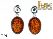 Jewellery SILVER sterling earrings.  Stone: amber. TAG: ; name: E-827-2; weight: 4.65g.