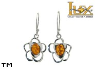 Jewellery SILVER sterling earrings.  Stone: amber. TAG: nature; name: E-876; weight: 3g.
