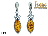 Jewellery SILVER sterling earrings.  Stone: amber. TAG: nature; name: E-918; weight: 2.6g.
