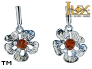Jewellery SILVER sterling earrings.  Stone: amber. TAG: nature; name: E-955; weight: 3.3g.