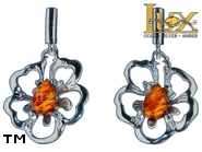Jewellery SILVER sterling earrings.  Stone: amber. TAG: nature; name: E-956; weight: 3.2g.