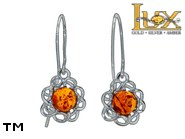 Jewellery SILVER sterling earrings.  Stone: amber. TAG: nature; name: E-987GS; weight: 1.8g.
