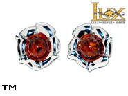 Jewellery SILVER sterling earrings.  Stone: amber. TAG: nature; name: E-A32; weight: 3.5g.