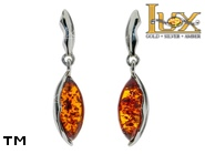 Jewellery SILVER sterling earrings.  Stone: amber. TAG: ; name: E-A37; weight: 3g.