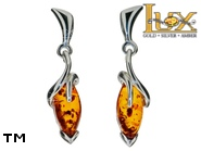 Jewellery SILVER sterling earrings.  Stone: amber. TAG: ; name: E-A39; weight: 3.4g.