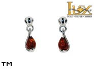 Jewellery SILVER sterling earrings.  Stone: amber. TAG: ; name: E-A57-1; weight: 1.45g.