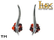 Jewellery SILVER sterling earrings.  Stone: amber. TAG: nature; name: E-A62; weight: 3.8g.