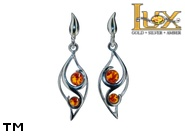 Jewellery SILVER sterling earrings.  Stone: amber. TAG: nature; name: E-A66; weight: 3.4g.