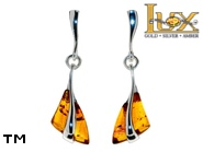 Jewellery SILVER sterling earrings.  Stone: amber. TAG: ; name: E-A81; weight: 3.3g.