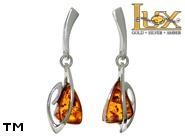 Jewellery SILVER sterling earrings.  Stone: amber. TAG: ; name: E-A87; weight: 2.3g.