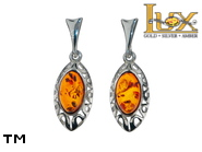 Jewellery SILVER sterling earrings.  Stone: amber. TAG: ; name: E-B96SW; weight: 2.9g.