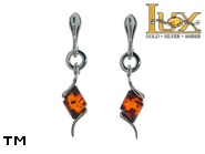 Jewellery SILVER sterling earrings.  Stone: amber. TAG: ; name: E-C19; weight: 2.9g.